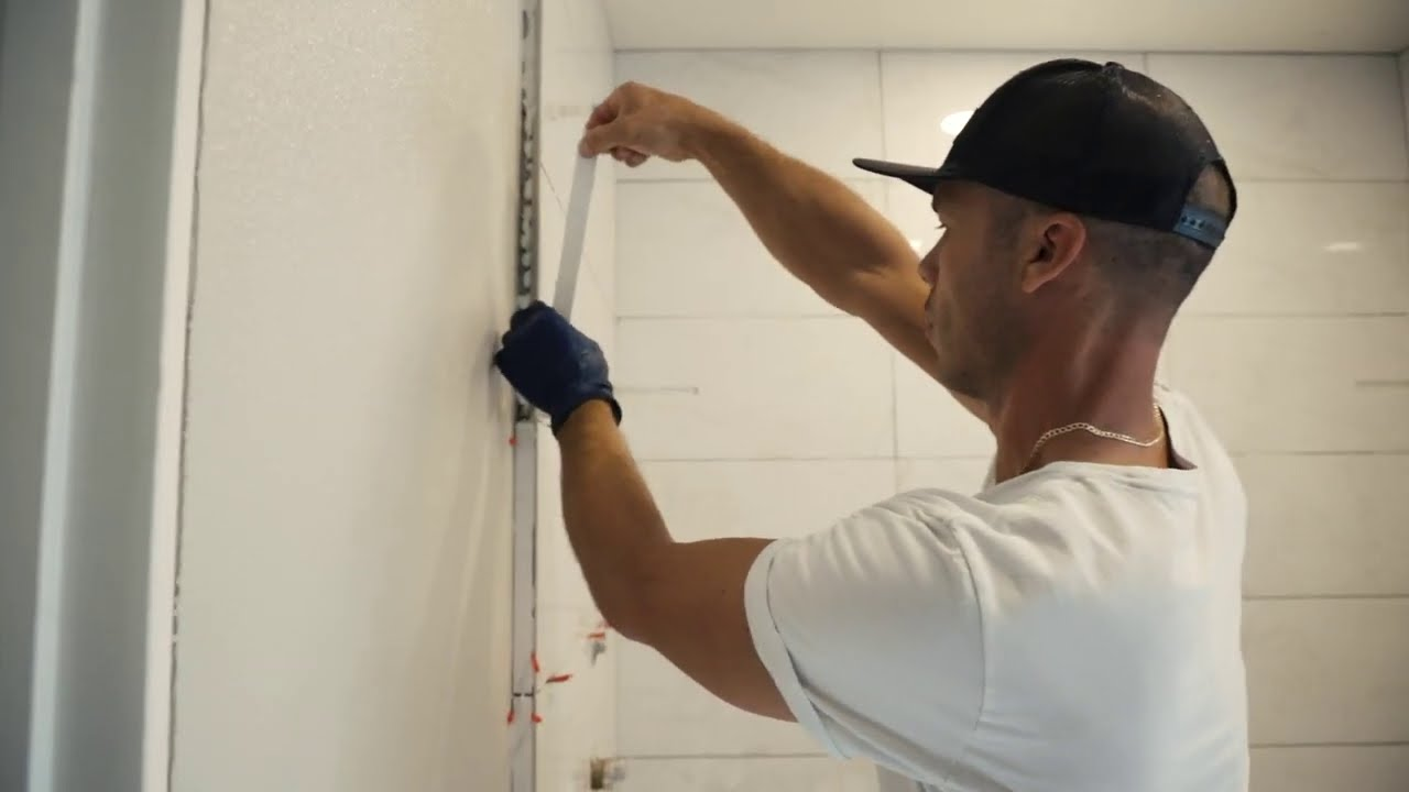 how to finish tile edge with miter no bullnose schluter finec profile