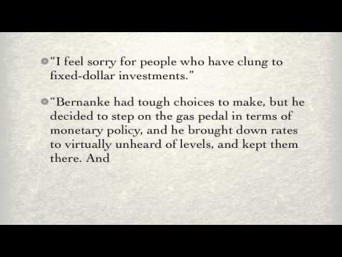 Warren Buffett 2013 Interview on Ben Bernanke's Monetary Policy