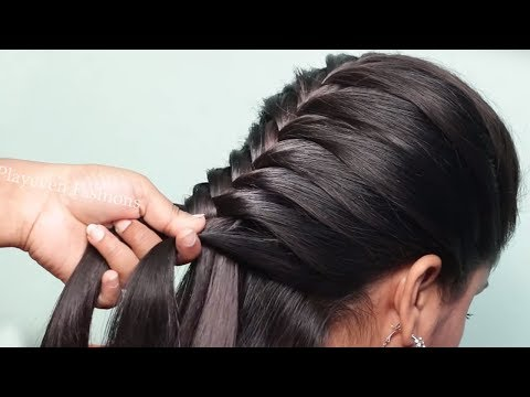 Easy updo with trick || hairstyles for girls || new hairstyle || bridal hairstyle || 2019 hairstyle thumbnail