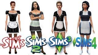 ♦ Sims 1 vs Sims 2 vs Sims 3 vs Sims 4 : Maids