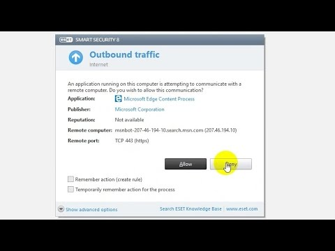 How to set ESET Smart Security's Firewall from Automatic to Manual mode