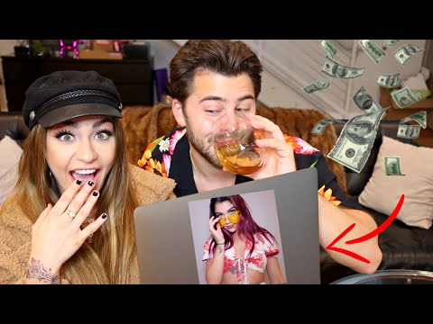 Trying On Outfits We Ordered While Drunk (Online Shopping) | Andrea Russett & Dommy D