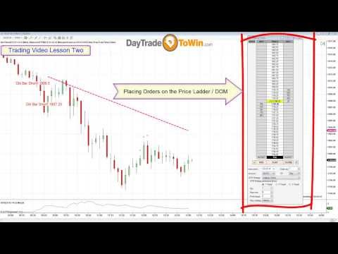 Trading Lesson 2 - Placing Orders in NinjaTrader Using the SuperDOM