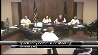 Garden City Kansas Special Commission Meeting 12/9/15