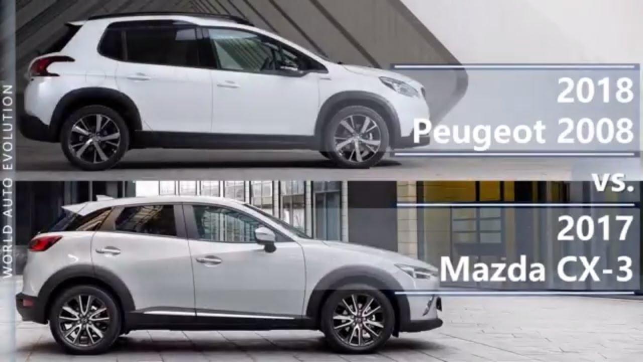 2018 Peugeot 2008 vs 2017 Mazda CX-3 (technical comparison) - YouTube