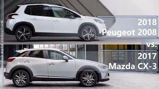 2018 Peugeot 2008 vs 2017 Mazda CX-3 (technical comparison)