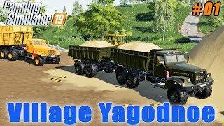 Selling sand, sowing wheat | Farming on Village Yagodnoe | Farming simulator 19 | Timelapse #01