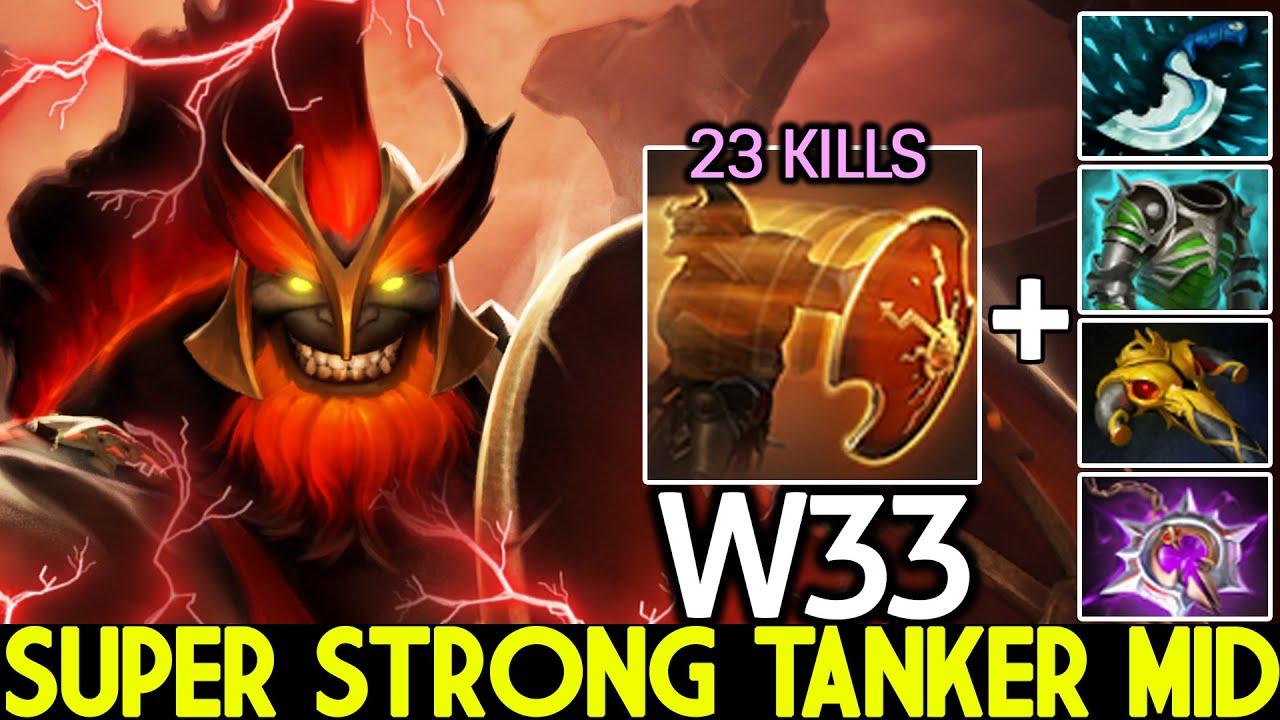 W33 [Mars] Super Strong Tanker Mid Beautiful Plays Dota 2