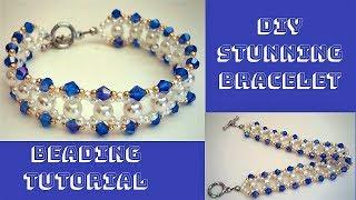 Stunning bracelet. DIY Beaded Bracelet. How to make beaded bracelet