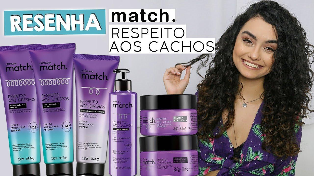 23b1bd2be Resenha: LINHA MATCH RESPEITO AOS CACHOS- Boticário | Morena Raiz ...