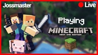 🔵MINECRAFT XBOXONE !!🔵LETS BUILD A CITY WITH THE WIFE AND FRIENDS !!!!