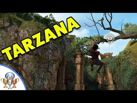 Uncharted The Lost Legacy - Tarzana Trophy Guide - Performing 5 Grapple Swings in a Row
