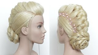 Beautiful Low Bun Hairstyle For Party. New Juda Style