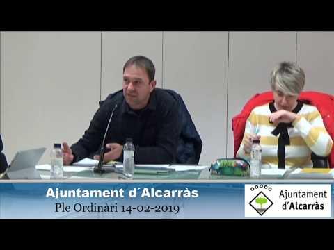 Ple Ordinàri Ajuntament d´Alcarràs -  14-02-2019