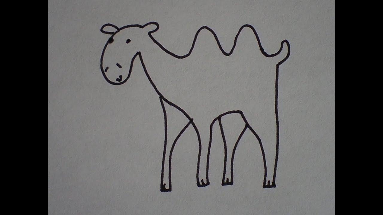 Hoe Teken Je Een Kameel Makkelijk How To Draw A Camel