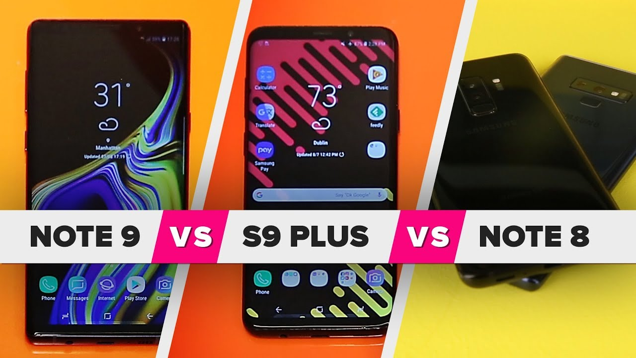 b33ffa2f0a6 Galaxy Note 9 vs. S9 Plus vs. Note 8: What's new? - YouTube