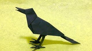 折り紙 カラス ORIGAMI CROW