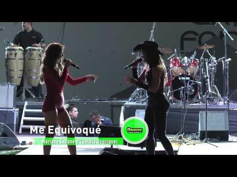 Mariana Seoane y Cynthia Rodríguez Me equivoqué Mega Concierto de La Comadre Hermosillo