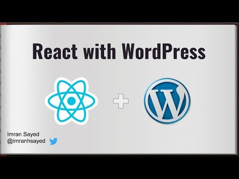 #1 Introduction to React with WordPress | React WordPress tutorial | React WordPress theme thumbnail