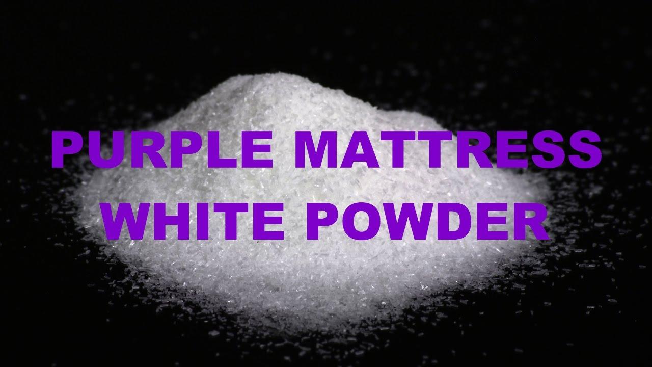 purple mattress white powder youtube. Black Bedroom Furniture Sets. Home Design Ideas