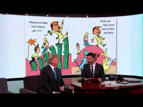 Jimmy Kimmel reads Dr Seuss style book to Donald Trump