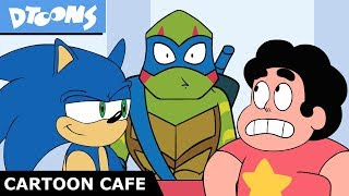 TMNT, Sonic the Hedgehog, Steven Universe + More at Cartoon Cafe! Ep 2 | +More Dtoons Cartoons