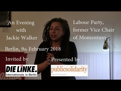 Video – 9 February 2018: An evening with Jackie Walker