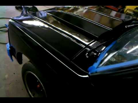 Second coat of rustoleum gloss black rolled on  YouTube