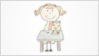 How to draw Community Helpers - Veterinary Doctor for kids
