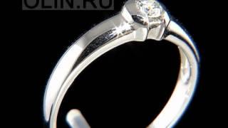 Кольцо для помолвки с бриллиантом(Женское кольцо для помолвки выполнено из белого золота 585 пробы и украшен круглым бриллиантом весом 0,17..., 2013-01-10T13:39:00.000Z)