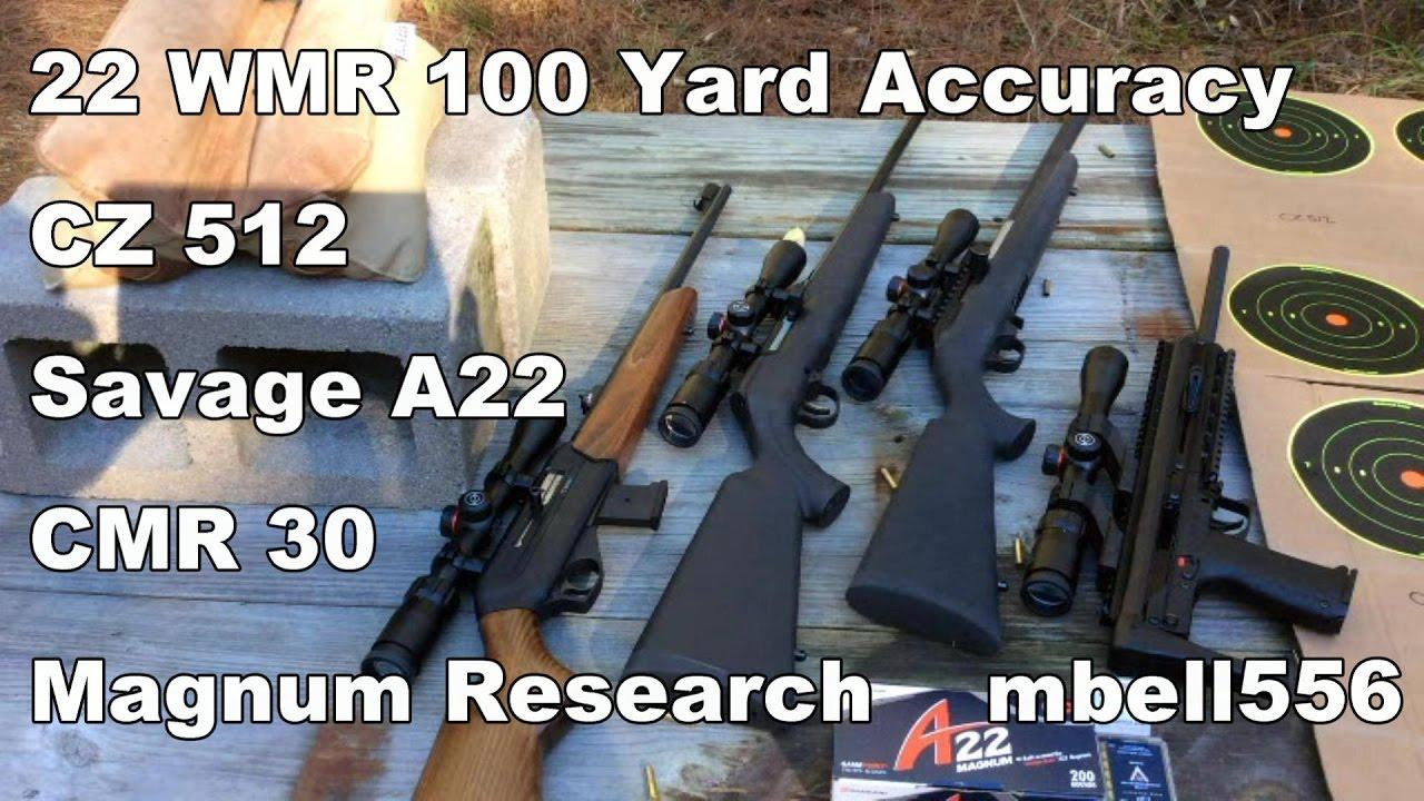 22 magnum 100 yard accuracy cz 512 savage a22 magnum research