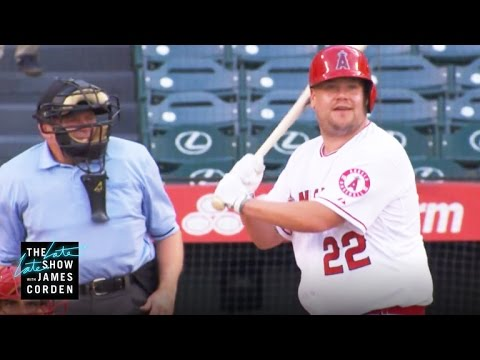 James Corden Takes a Swing at Major League Baseball