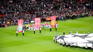 Player Entrance & Champions League Anthem @ Old Trafford - Manchester United vs Porto