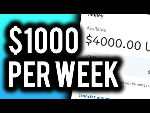 Earn $1000 Per Week For FREE! (Step By Step) - Make Money Online 2019