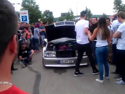 mercedes benz 190 tuning treffen heidenheim 2015 youtube