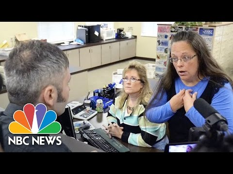 Kentucky Clerk Continues to Withhold Marriage Licenses   Short Take   NBC News