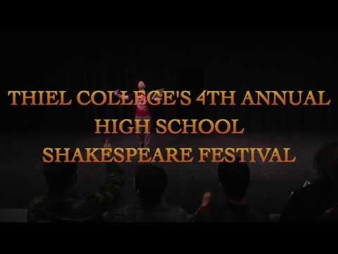 Thiel College's 4th Annual High School Shakespeare Festival (2017)