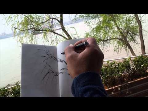 Plein Air Sketching of Willows by the Yangtze River with Henry Li