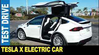 2017 Tesla Model X electric fast SUV AWD falcon wings doors driven by Jarek Clearwater Florida USA
