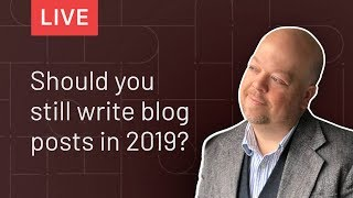 Does Blogging Still Work with Mike Allton | Thinkific LIVE