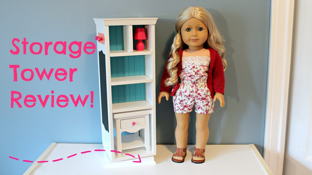 Journey Girls Storage Tower Review For American Girl Dolls!   YouTube