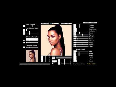 PixaTool - Kim Kardashian process to 8Bit / PixelArt style