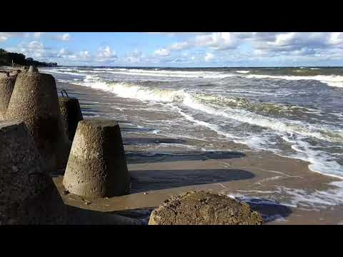 Stormy Baltic Sea. Curonian Spit