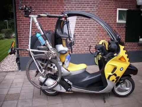 bmw c1 mit fahrradhalter f r montainbikes youtube. Black Bedroom Furniture Sets. Home Design Ideas