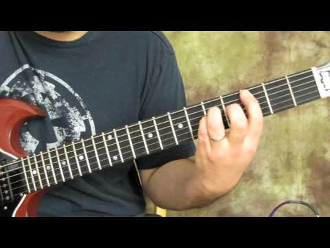 guitar lesson - how to play shoot to thrill - acdc - learn ...