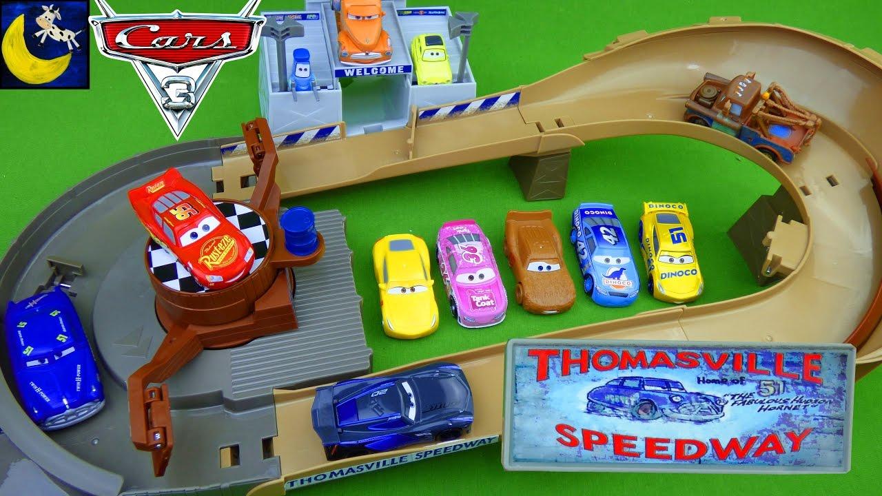Disney Cars Toys Thomasville Racing Speedway Doc Hudson Race