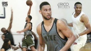 Ben Simmons at Rico Hines UCLA Run! Russell Westbrook, Marvin Bagley, Tristan Thompson