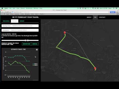 U.S. DOT Challenge 2014- Booz Allen and Virginia Tech: Forecast Your Travel (FYT) tool