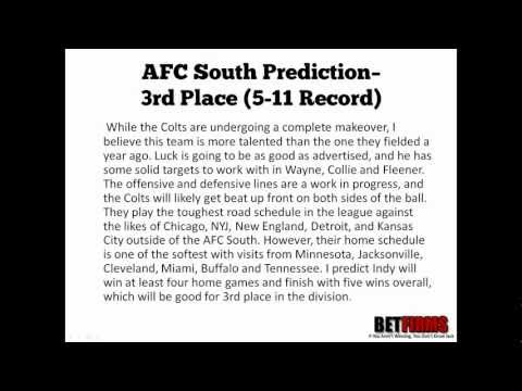 2012 Indianapolis Colts Football Predictions