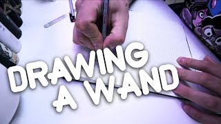 a fun video of how to draw a wand, this was a random wand design I ...
